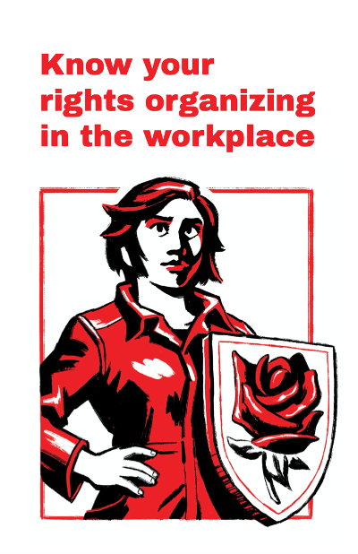 """Know your rights organizing in the workplace"" zine cover"